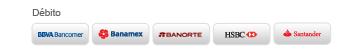 BeControl Marketplace acepta tarjetas de débito de BBVA Bancomer, Banamex, Banorte, HSBC y Santander.